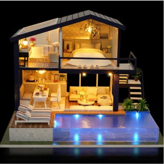 Mô hình nhà gỗ DIY Biệt thự sang trọng
