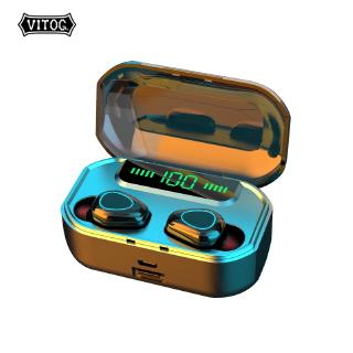 Tai Nghe Không Dây Vitog G20 TWS Kết Nối Tín Hiệu Bluetooth 5.0 Chống Thấm Nước IPX7 9D Phong Cách Thể Thao