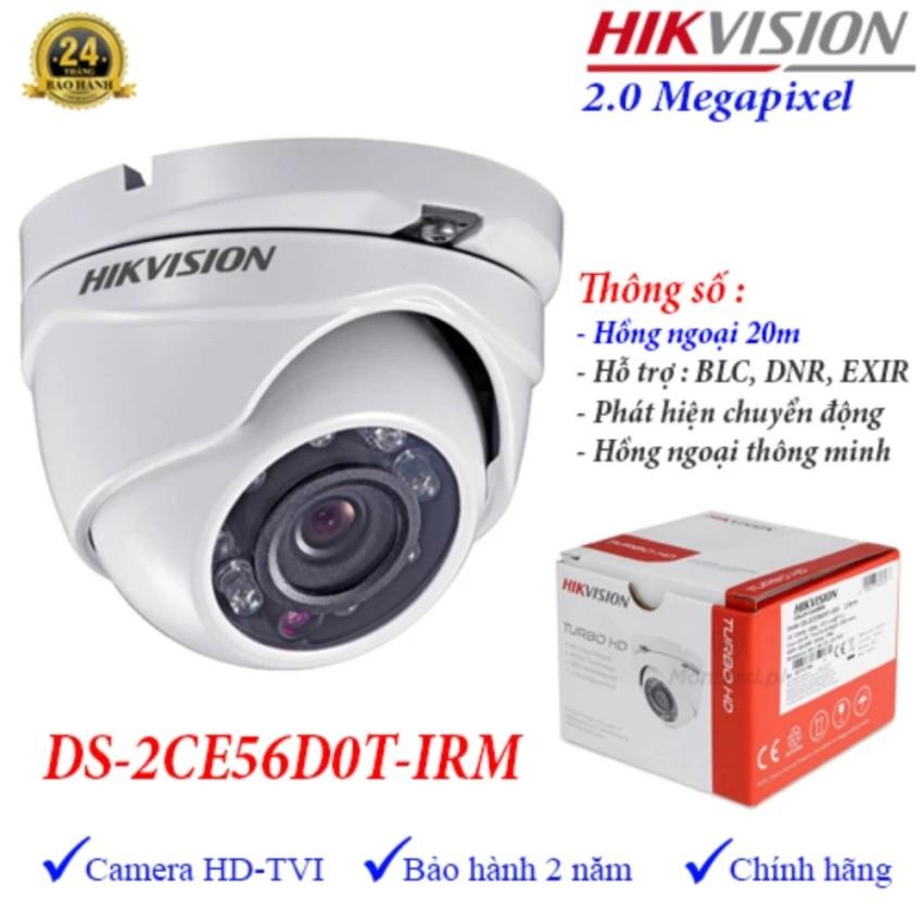 Camera HDTVI hồng ngoại 20m 2.0MP Hikvision DS-2CE56D0T-IRM