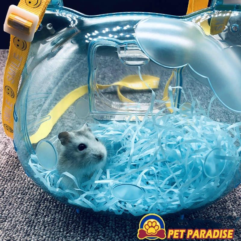 Hamster House Carrier Bag Cage Pet Bed Pet Portable Plastic Carrier Case Cage for Hamsters Rabbits Hedgehog Pet