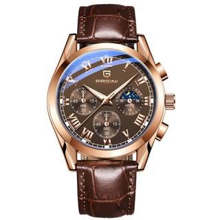 ( Tặng Kèm Kính Mắt Nam ) Đồng hồ nam chính hãng PAGINI PADN2233 dây da cao cấp - Bả