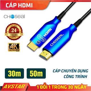 【Chính hãng】dây Cáp HDMI Choseal 2.0/4K cao cấp tốc độ cao cho công trình 30m, 50m