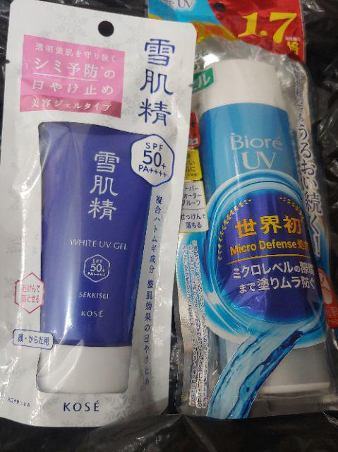 Đánh giá sản phẩm Kem chống nắng Kose Sekkisei UV White Gel 80g của tranthilanvtpl