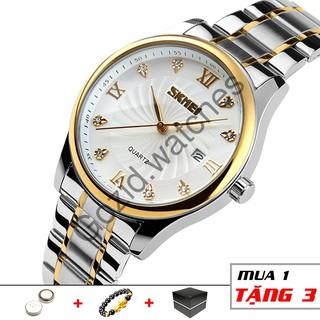 Đồng hồ nam SKMEI SM09 chống nước siêu bền dây thép không gỉ -Gozid.watches