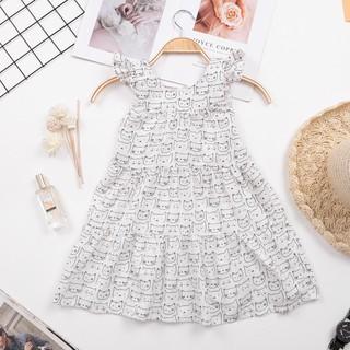 Váy đũi thô hình mèo bé gái