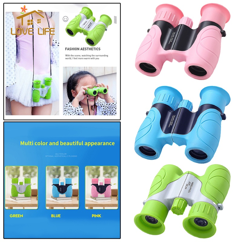 [whfashion] Portable 10x22 Optical HD Binoculars Telescope for Kids Camping Toys, Easy to Focus