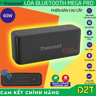 Tronsmart Element MEGA PRO    CAO CẤP   Loa Bluetooth 5.0 công suất 60W, bass sâu và trầm,điều khiển cảm ứng, TWS 2 loa