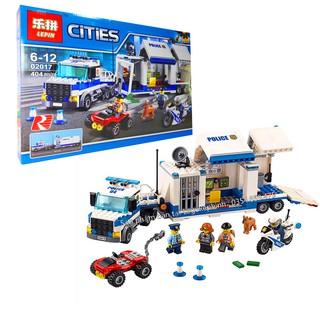 Bộ Lego Ghép Hình Ninjago Siêu Xe Cảnh Sát Chiến Đấu. Gồm 404 Chi Tiết. Lego Ninjago Lắp Ráp Đồ Chơi Cho Bé