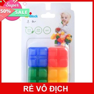 Đồ chơi xếp hình bằng nhựa mềm Co- block loại 4 miếng ghép/hộp