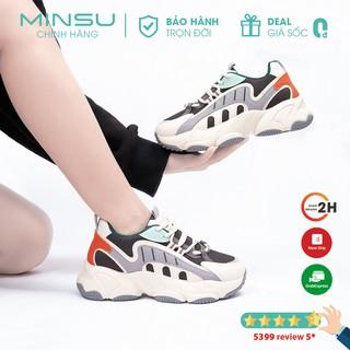 Giày Sneaker Độn Đế MINSU Fashion M3804, Giày Thể Thao Nữ Độn Đế Hàn Quốc Rất Đẹp Khi Mang Đi Chơi, Đi Học, Du Lịch
