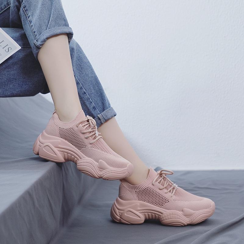 รองเท้าผ้าใบระบายอากาศได้ดีสีแดง 2019