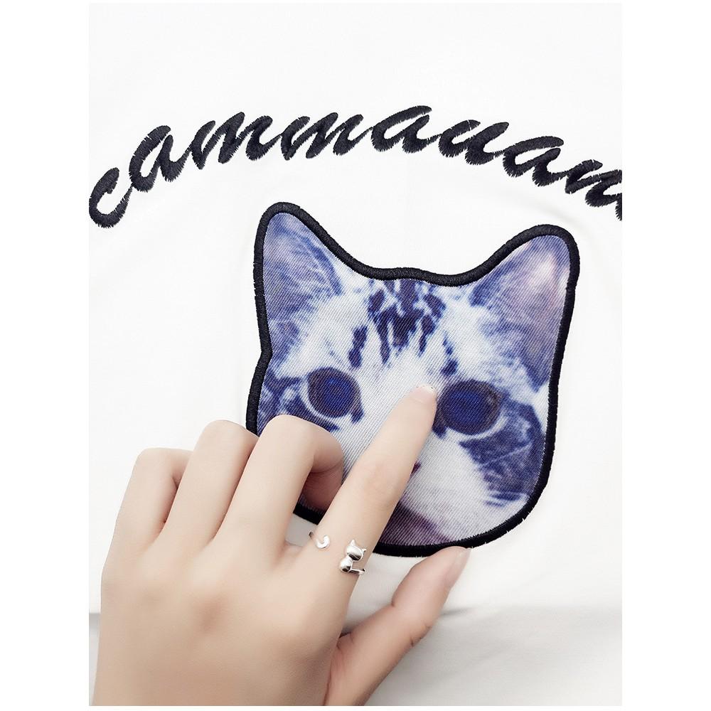 Nhẫn bạc con mèo Hàn Quốc