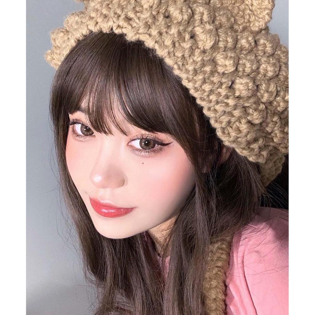 [Hàng mới về] Cặp kính áp tròng Xiyou Goat 14.4mm màu nâu làm đẹp cho nữ