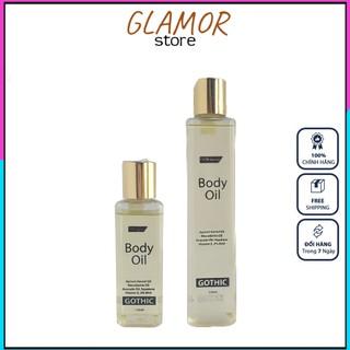 Dầu Dưỡng Da Body Oil GoThic 150ml – 250ml Cải Thiện Tình Trạng Viêm Nang Lông GLAMOR