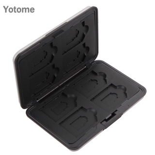 YO For Micro SD SDXC Storage Holder Memory Card Case Protector Plastic