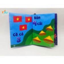 Sách Vải Bé Tập Đếm Kèm Học Liệu – Đồ Chơi Việt – Kích Thích Đa Giác Quan