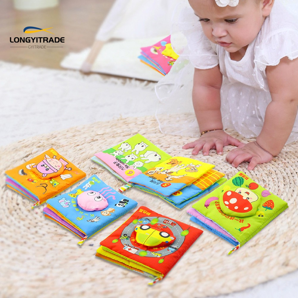 6Pcs 3D  Story Cloth Book Toys  Early Intelligence Development