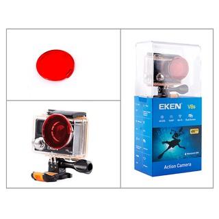 Kính lọc đỏ cho vỏ chống nước của camera hành trình eken H9r, camera hành trình eken h8r thumbnail