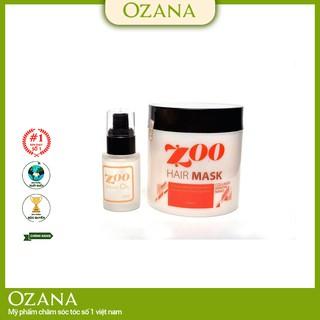 Bộ combo Kem Hấp - Ủ- Xả Phục Hồi Tóc Collagen, Tinh Dầu Dưỡng Tóc Dành cho tóc xoăn, tóc khô xơ chẻ ngọn CB03