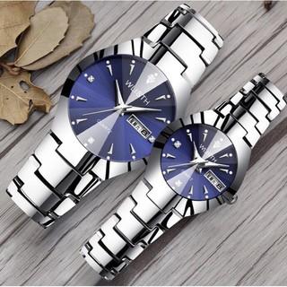 Đồng hồ nam nữ WLISTH W04 mặt đính đá dạ quang cực đẹp