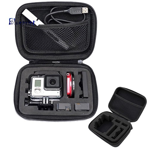 囍BPBlack Shockproof Portable Bag Case for GoPro Hero 3+ 3 2 1 SJ4000 Camera Accessory