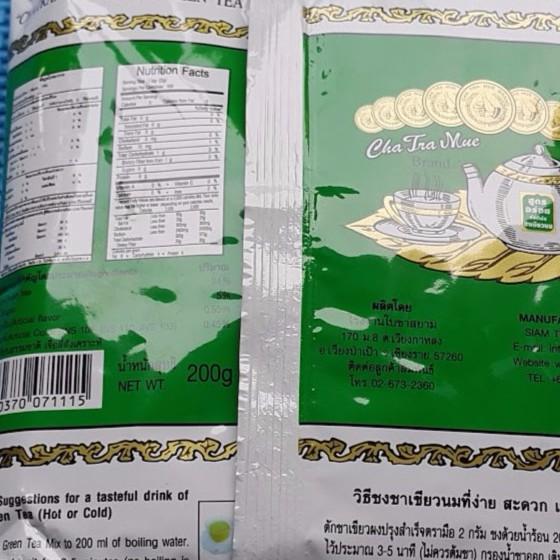 combo 6 gói trà xanh thái lan 200g/1 gói