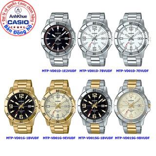 Đồng hồ nam Casio MTP-VD01 MTP-VD01L MTP-VD01GL bảo hành 1 năm chính hãng Anh Khuê dây da chống nước 50m thumbnail