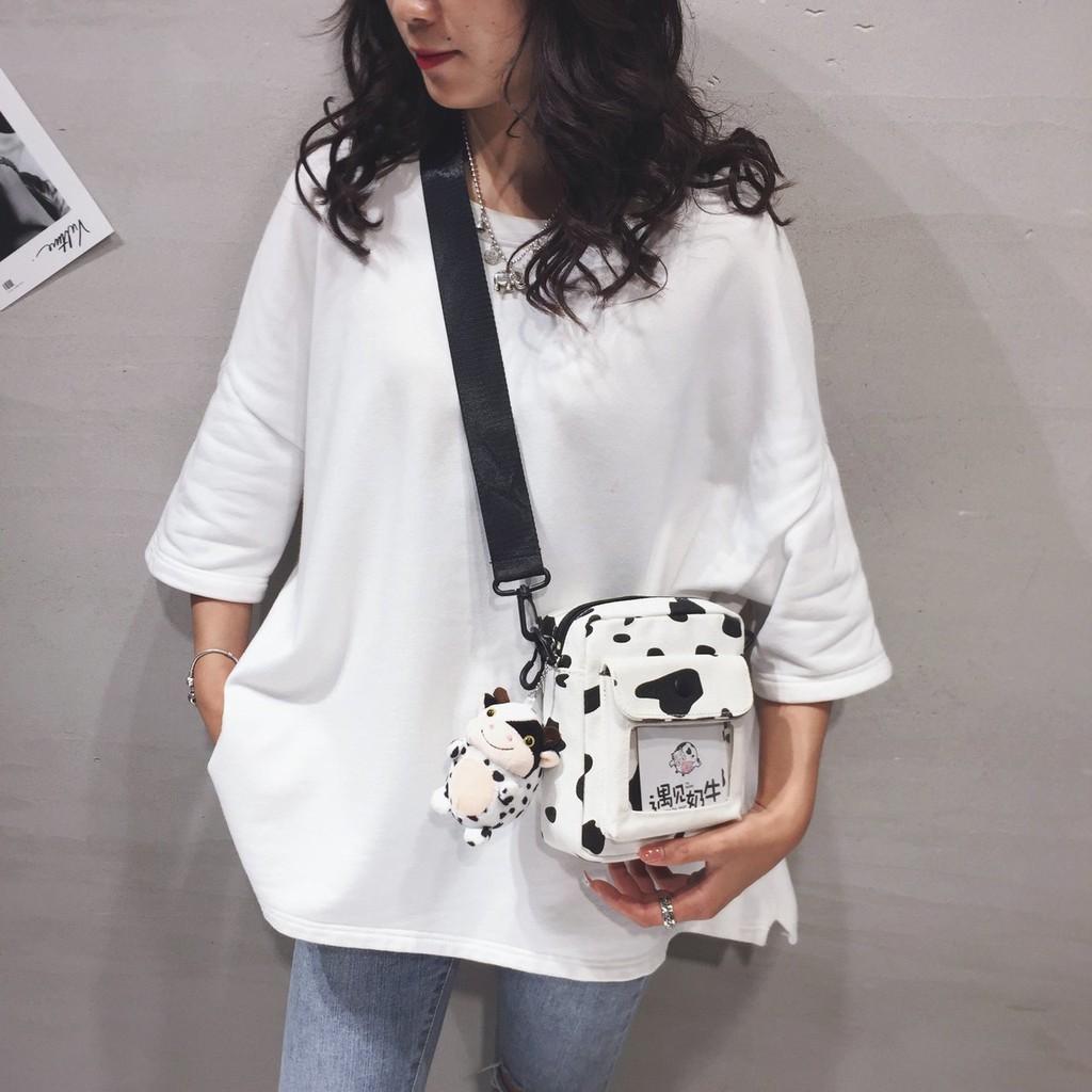 Túi đeo chéo Bò Sữa [ FREESHIP] phong cách Hàn Quốc [ Không bao gồm gấu bông]