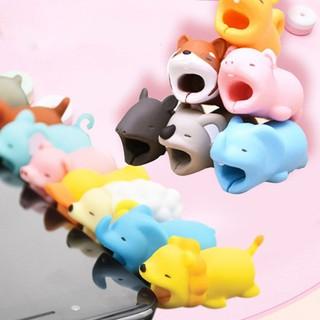 Đầu gắn bảo vệ dây cáp sạc hình động vật bằng nhựa xinh xắn