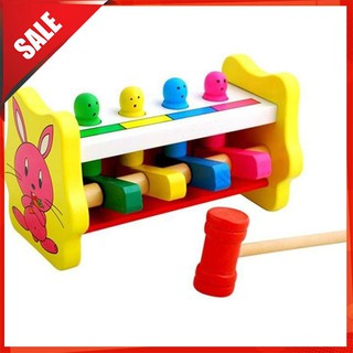 [ẢNH TỰ CHỤP] Đồ chơi gỗ – Bộ đồ chơi đập chuột 1 búa cho bé [BÁN CHẠY]