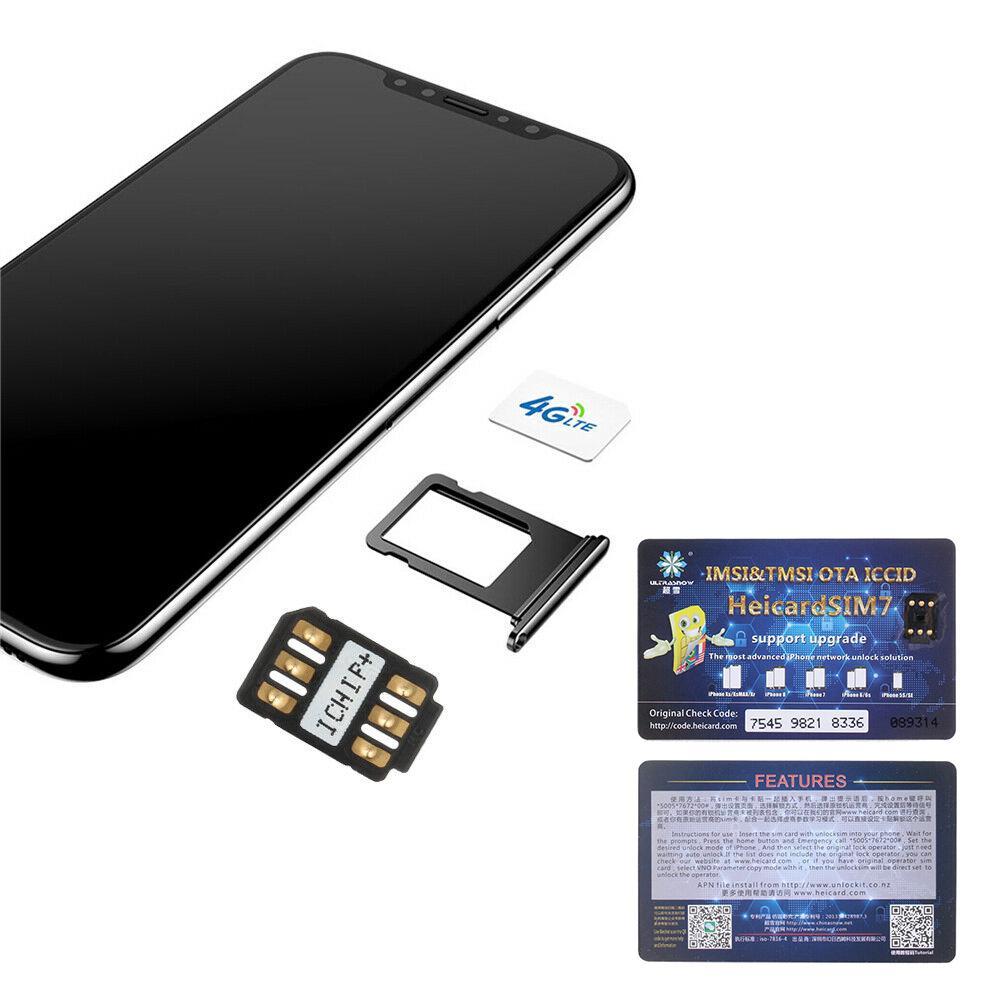 Nano-SIM Unlock Card Heicard Sim Chip For iPhone X 8 7 6S 6 Plus iOS