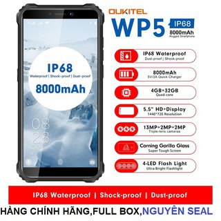 Điện thoại oukitel WP5 (chống va đập,chống nước,Ram 4Gb,Rom 32Gb,Pin 8.000mAh) thumbnail