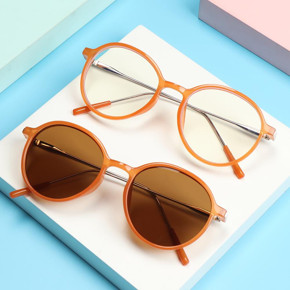 🌱FOREVER🌱 Fashion Eyeglasses Vintage Ultra Light Frame Anti-Blue Light Glasses Portable Women Men Computer Round Eye Protection