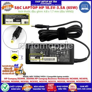(ADAPTER) SẠC LAPTOP HP 18.5V-3.5A (65W) (Đầu Vàng) kích thước đầu ghim 4.8 x 1.7 mm thumbnail