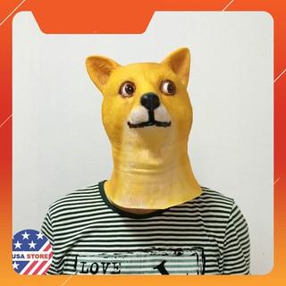 {Giảm 10%} Đầu Giả Hóa Trang Chó Nhật