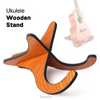Stand Holder Ukulele Violin Wood Fold Sturdy Elaborate Musical Instrument