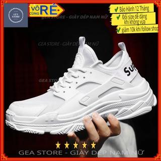 Giày thể thao nam sup trắng đỏ gea, sneaker nam giày tập gym cao cấp tăng chiều cao kiểu dáng sport - Mã GEATT06