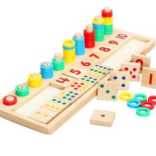 Giáo cụ gỗ dạy số đếm cho bé