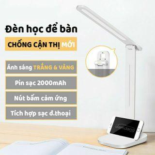 Đèn học để bàn chống cận, sạc điện cảm ứng vân tay tiết kiệm điện năng
