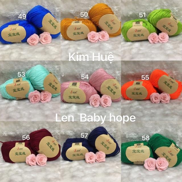 Combo len baby hope và phụ kiện - 9956578 , 1327910333 , 322_1327910333 , 277000 , Combo-len-baby-hope-va-phu-kien-322_1327910333 , shopee.vn , Combo len baby hope và phụ kiện