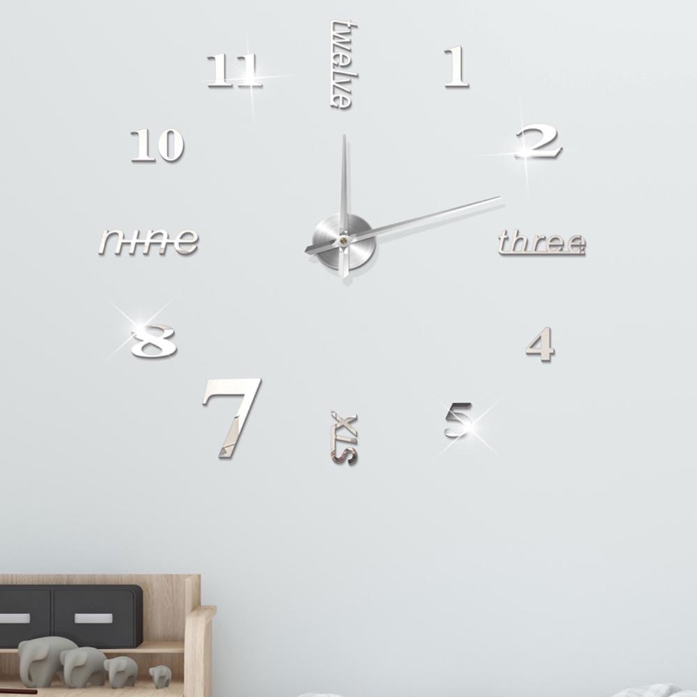 Đồng hồ dán tường 3D tự làm phong cách hiện đại
