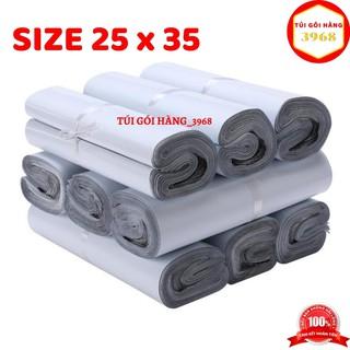 Túi gói hàng niêm phong cao cấp size 25 x 35 màu trắng sứ