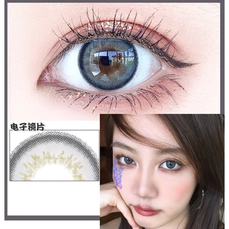 (1pair)(20.Aug.26)YD YZ Series,Xiyou Brand,14.2mm,(Grade0-8),Contact Lens yearly use(gray)