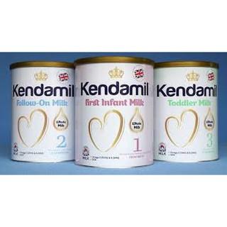 Mẫu mới Sữa Kendamil số 1,số 2,số 3 loại 900g hàng nhập nguyên lon từ anh -date luôn mới