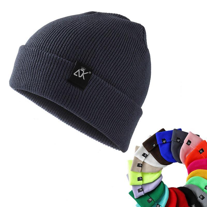 Mũ Beanie Đan Sợi Giữ Ấm Nhiều Màu Tùy Chọn Thời Trang Cho Nam Nữ