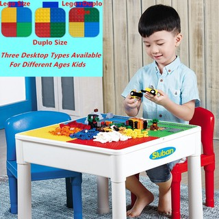 4 In 1 Kids Activity Table Water Table Craft Table Building Brick Table Blocks B0637