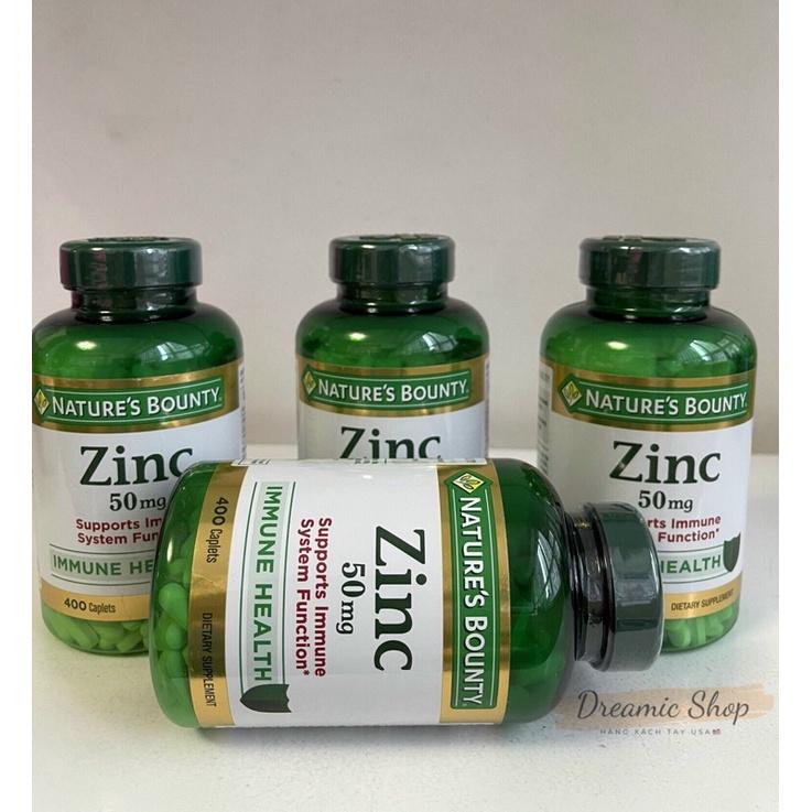 Viên uống kẽm Nature's Bounty ZinC 50mg 400 viên