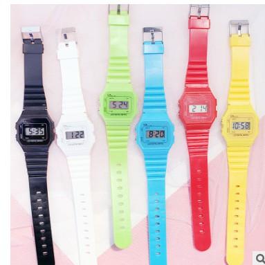 (Giá sỉ)Đồng hồ điện tử unisex dây nhựa CA004 phối theo đồ rất đẹp 4.9