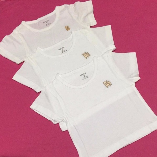 Combo 5 áo trắng cotton MIATOP 1-10