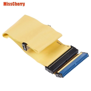 [MissCherry] 40 Pins 80 Wire Pata/Eide/Ide Hard Drive Dvd Ribbon Cable Yellow 40Cm